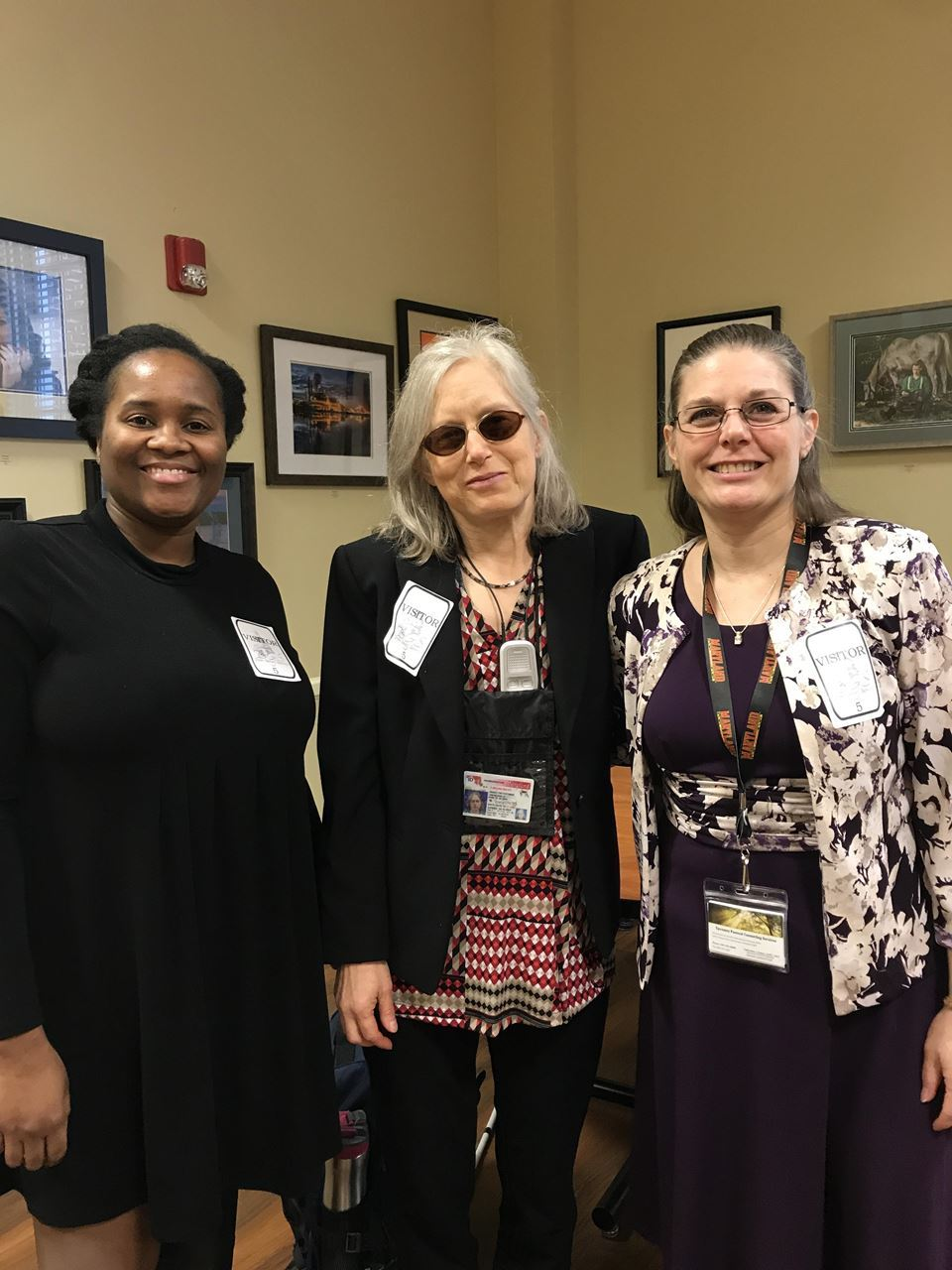 President-Elect Dr. Ajita Robinson, Advocacy Chair Ms. Janice Toothman, and President Cathie Eaton
